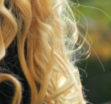 Lightroomシャープネス髪の毛0